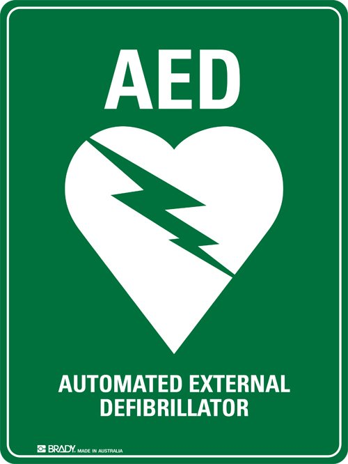 The green lighting-heart AED sign should be as recognisable as a stop sign, alerting us to our nearest automated external defibrillator. Do you know where yours is?